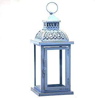 Antique Iron Candle Lantern 3 Set of 6 Assorted Colors