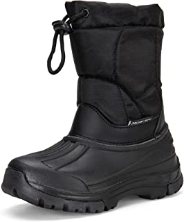 DREAM KIDS Boys Snow Boots Outdoor Waterproof Cold Weather Winter Boots for Girls(Toddler/Little Kid/Big Kid)