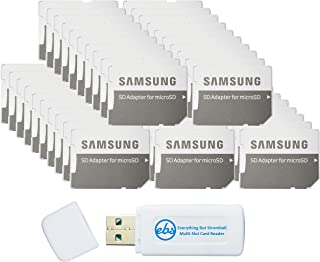 Samsung Micro to SD Memory Card Adapter (Bulk 50-Pack) Bundle with (1) Everything But Stromboli Micro & SD Card Reader