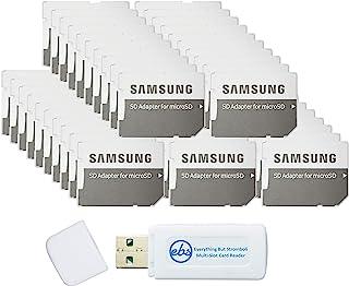 محول بطاقة ذاكرة ميكرو إلى إس دي من سامسونج (عبوة من 50 قطعة) مع (1) كل شيء ولكن قارئ بطاقة SD ميكرو وميكرومبولي