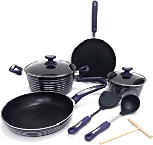 Non-stick aluminium cookware set cooking pots [T-09P]
