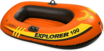 Intex unisex Explorer 100, 1-Person Inflatable Boat, Orange, 58