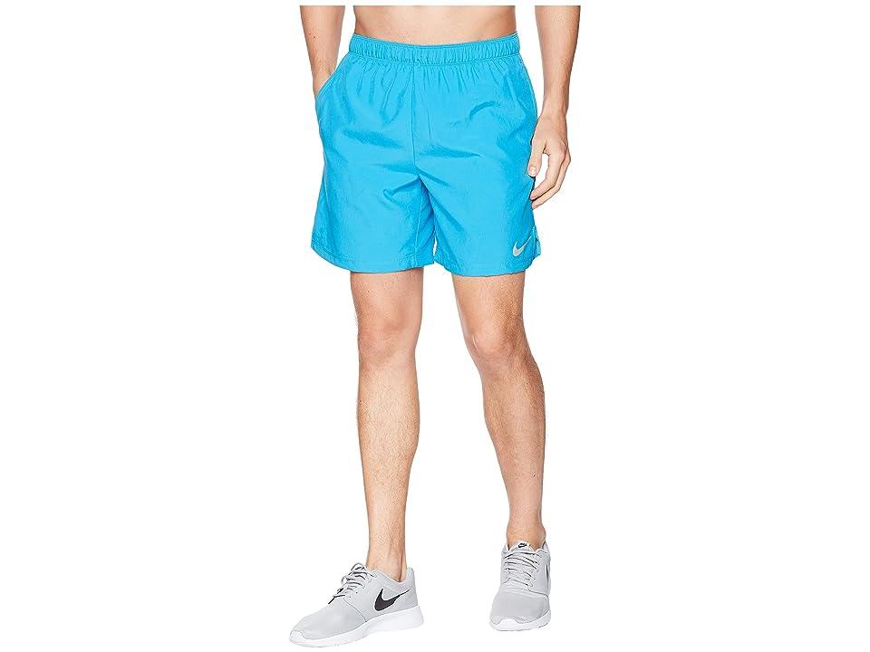 Nike Challenger 7 Dri-Fit Running Short (Equator Blue/Equator Blue/Equator Blue) Men