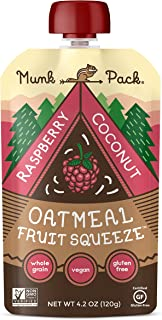 Oatmeal Fruit Squeeze (Raspberry Coconut, 12 Pack)