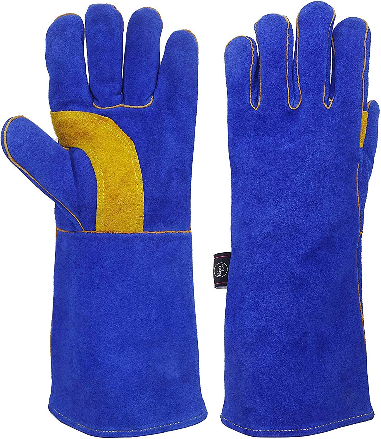 KIM YUAN Extreme Heat Fire with Kevlar Translated Leather depot Gloves Resistant