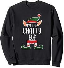 The Chatty Elf - Elf Gifts - Family Christmas Elf Pajamas Sweatshirt