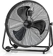 Orbegozo PWT 3061 Power Fan Profesional - Ventilador industrial, 150 W, 3 velocidades, diámetro hélice 60 cm, ruedas para transporte, Negro
