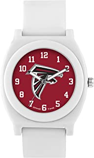 Game Time Women's 'Fan' Quartz Plastic and Rubber Casual Watch, Color:White (Model: NFL-FNW-ATL)