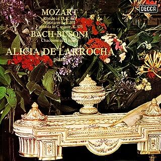 Mozart: Piano Sonata No. 11; Rondo in D Major; Fantasia in C Minor / Bach-Busoni: Chaconne