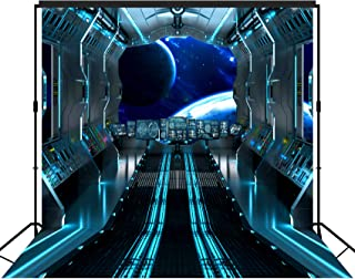 musykrafties Futuristic Hallway aboard Spaceship Backdrop Extra Large Banner Decoration Dessert Table Background Photobooth Prop 10x10 feet