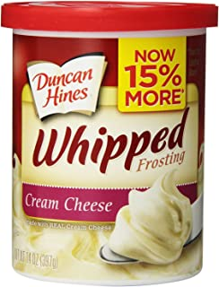 Duncan Hines Whipped Frosting, Cream Cheese, 14 Ounce
