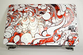 Dell New Genuine OEM Inspiron 1545 1546 Laptop LCD Display Back Cover Top Rear Lid Case Housing Screen Monitor Panel Design J331R Red Swirl J454M J455M Mike Ming