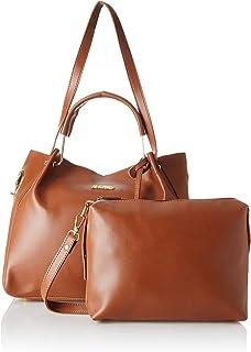 Verobelle Women Fashion Synthetic Leather Handbags Tote Bag Shoulder Bag Top Handleand Sling Bag Purse Set 2pcs