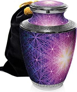 Prime Preferred Choice Seed of Life Cremation Urns for Human Ashes Adult, Urns for Ashes, Cremation Urns for Adult Ashes 200 Cubic Inches, Adult Large