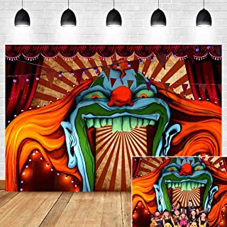 Scary Haunted House Entrance Photography Backdrop Halloween Birthday Party Decorations Vinyl 7x5ft Evil Circus Giant Carnival Photo Background Photo Booth Studio Props Banner Supplies