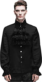 Men Victorian Gothic Vintage 3-Piece Suit Tailcoat Shirts Pants Set