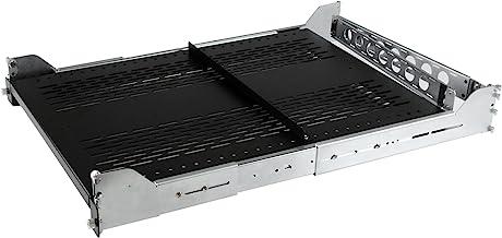 StarTech.com 2U Vented Sliding Server Rack Shelf w/ Cable Management Arm - Adjustable Depth - 50lb - 19? Server Tray Shelf...