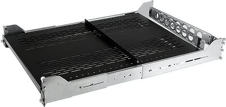 """StarTech.com 2U Vented Sliding Server Rack Shelf w/ Cable Management Arm - Adjustable Depth - 50lb - 19"""" Server Tray Shelf for Equipment Rack (UNISLDSHF192)"""