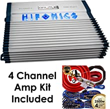 $149 » Hifonics BXX800.4 Brutus 800W RMS 4 Channel A/B Speaker Car Audio Amplifier with Amp Kit