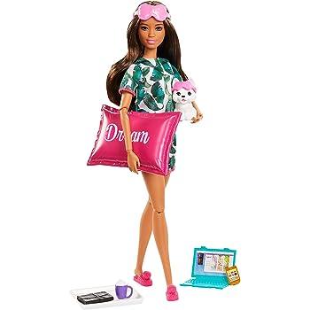 Amazon.es: Barbie Bienesta, muñeca con ropa deportiva y accesorios ...