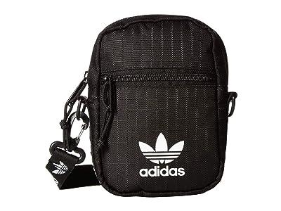 adidas Originals Originals Festival Bag Crossbody (Black/White) Bags