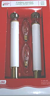 Battery Operated Candle Lamps Set of 2 W/2 Replacement Lights