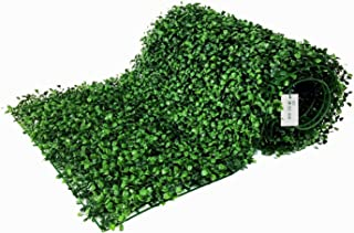 BESAMENATURE 12 Piece Artificial Boxwood Hedge Panels, UV Protected Faux Greenery Mats for Both Outdoor or Indoor Decoration, 20