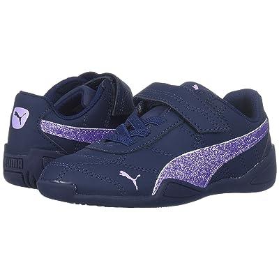 Puma Kids Tune Cat 3 Glam (Toddler) (Peacoat/Purple Rose) Girls Shoes