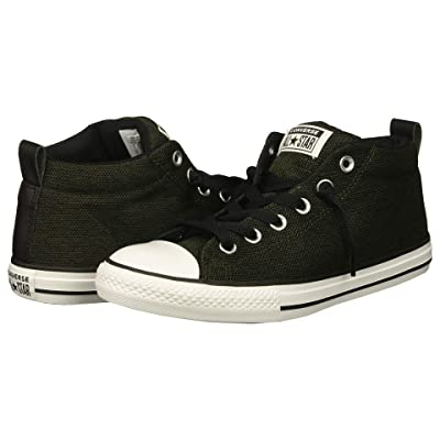 Converse Kids Chuck Taylor All Star Street Mid (Little Kid/Big Kid) (Utility Green/Black/White) Boys Shoes
