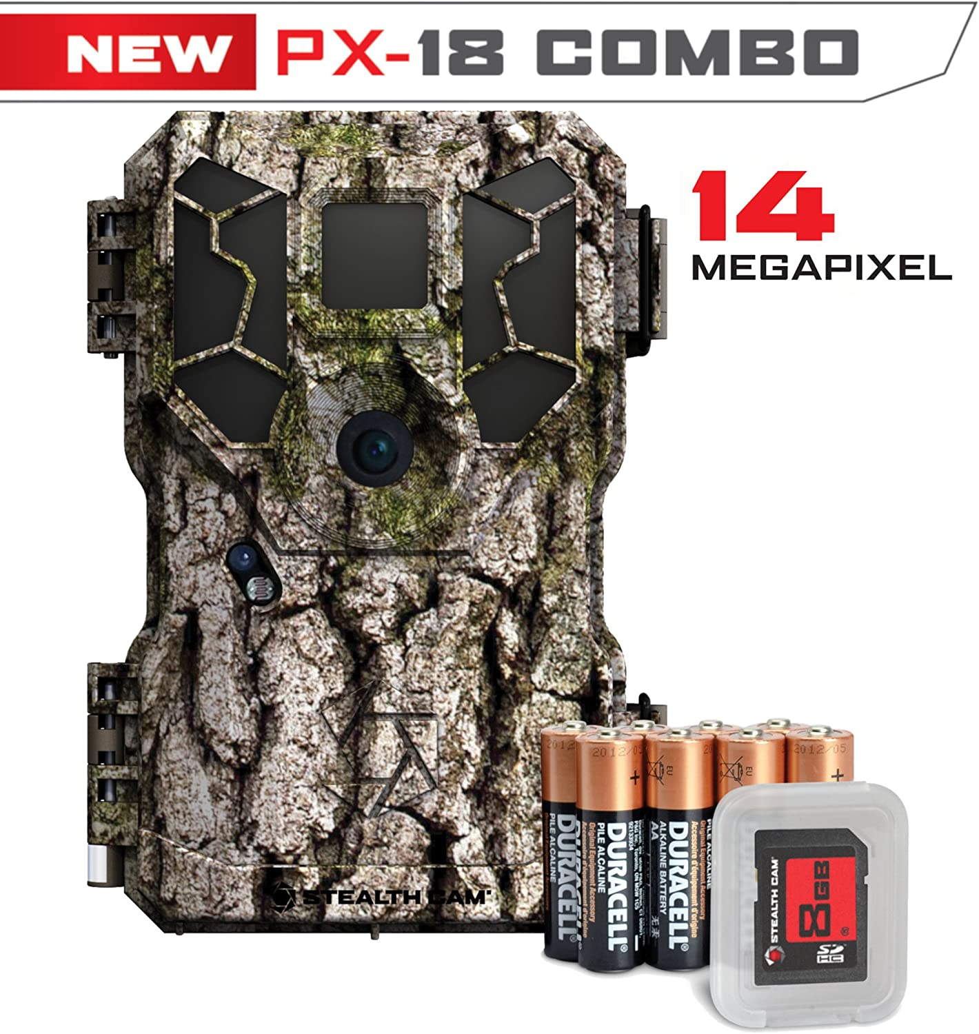 Stealth Cam Px18 Superlatite FX Scouting 8mp Kit Tree Combo Max 68% OFF Gam Bark Hunting