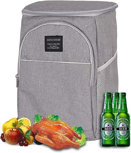 Sac à Lunch isolé Glacière Grande boîte à Lunch Sac de Pique-Nique étanche avec bandoulière réglable, Kit à Lunch pou...