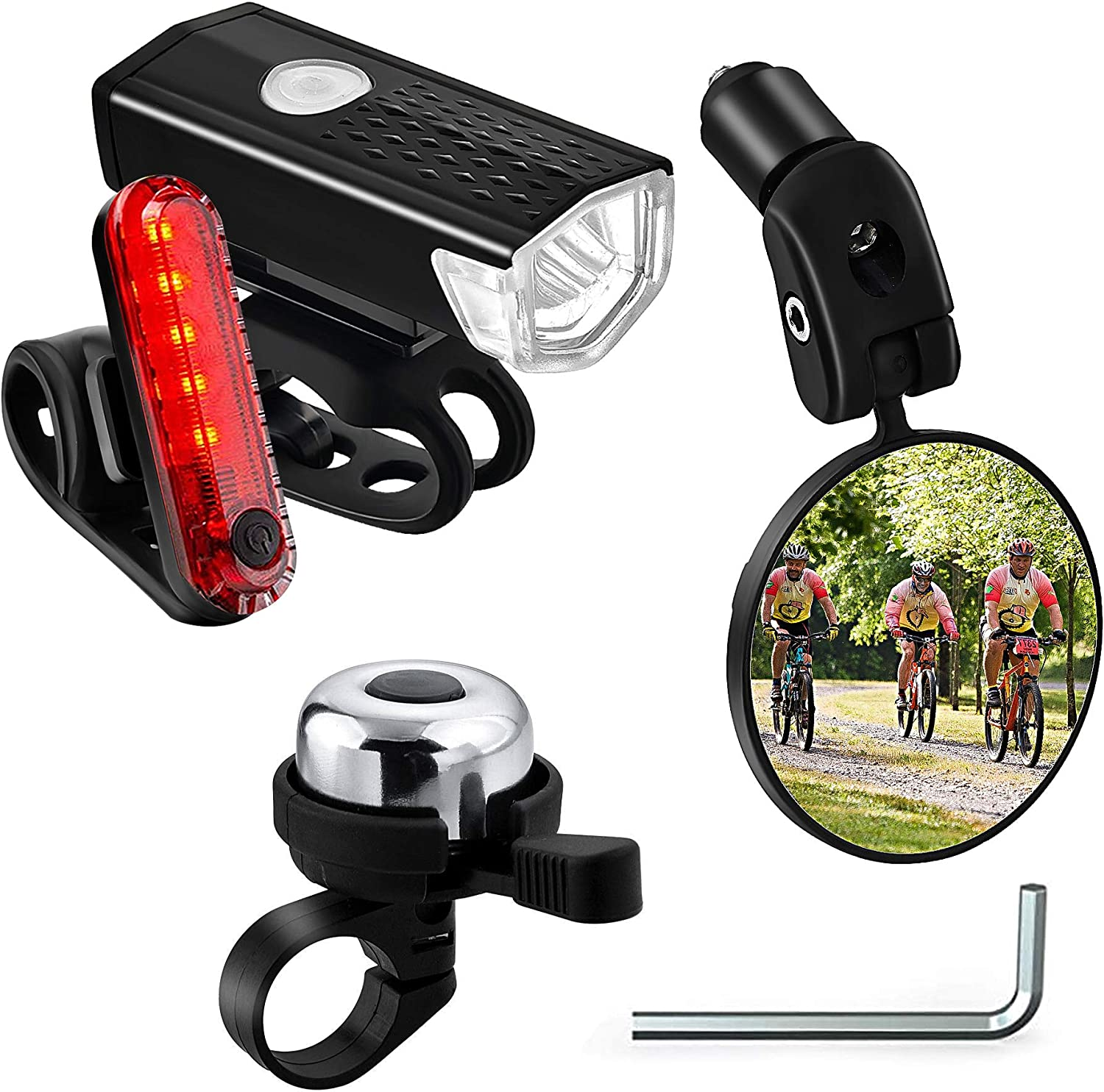 Ornalry Bicycle Accessories 4 PCs Bike Mirror Include Bell Max 73% OFF Industry No. 1