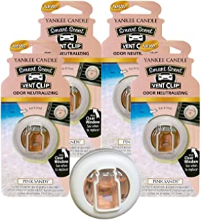 Yankee Candle Pink Sands Smart Scent Vent Clip - Pack of 4