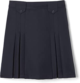 French Toast Girls` Front Pleated Skirt with Tabs