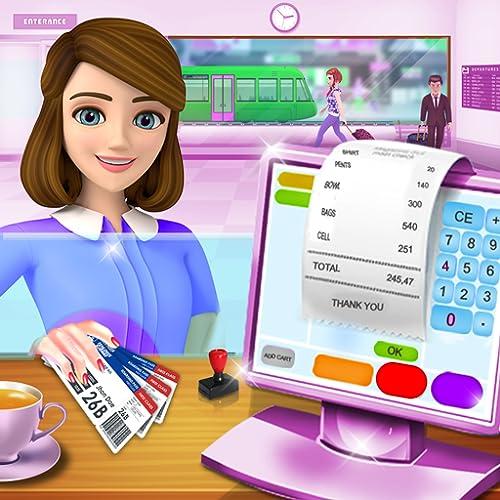 U-Bahn-Registrierkasse ATM-Kassierer-Spiele