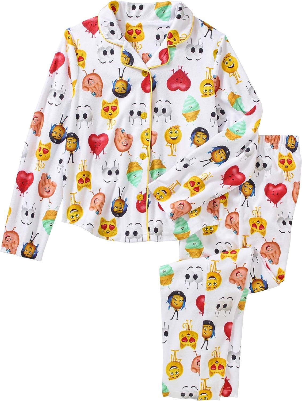 The Emoji Movie Girls 2 Piece Button Down Pajama Set