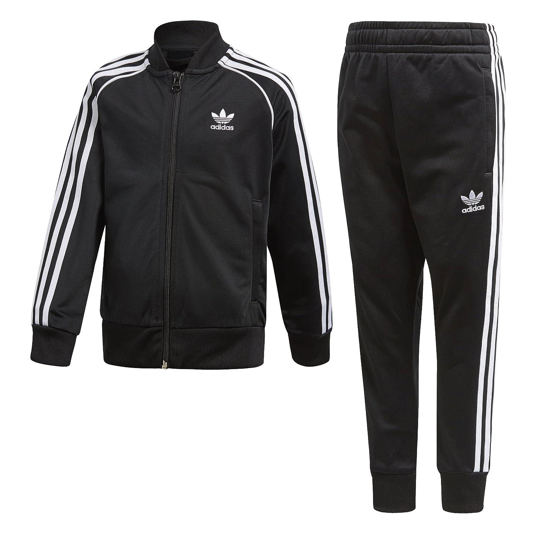 Dictado Referéndum lavanda  adidas Originals Boys' Big Trefoil Superstar Tracksuit, Black, 4T:  Amazon.in: Clothing & Accessories