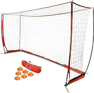 GoSports Elite Soccer Goals - Includes 1 Elite Goal, 6 Training Cones & Portable Carrying Case (Choose 6' or 12' Goal Size)