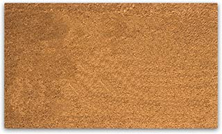 "PLUS Haven Coco Coir Door Mat with Heavy Duty Backing, Natural Doormat, 17""x30"" Size, Easy to Clean Entry Mat, Beautiful C..."