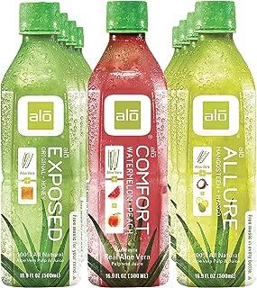 ALO Aloe Vera Organic Drink (12 pack) Includes: Original Honey, Watermelon, and Mango