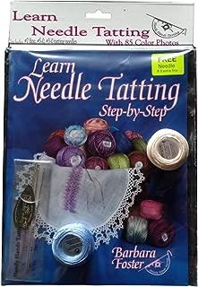 Beginner's Needle Tatting Bundle with Learn Needle Tatting Book, Tatting Needles and Threader, and Two Balls of DMC Thread