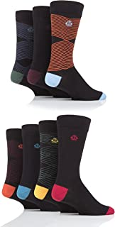 Jeff Banks Mens Zig Zag Cotton Socks Pack of 7