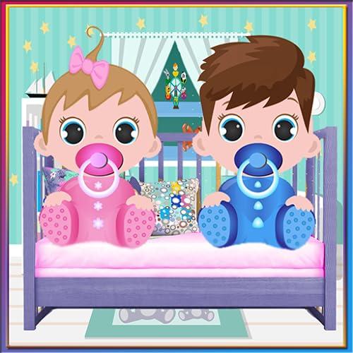 Neugeborenes Zwillinge Baby 2