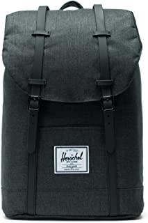 Herschel Retreat Backpack, Black Crosshatch/Black Rubber, Classic 19.5L
