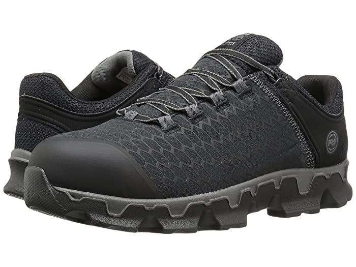 Timberland PRO  Powertrain Alloy Toe (Black Synthetic) Mens Work Lace-up Boots