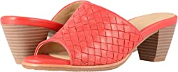 Red Woven Leather