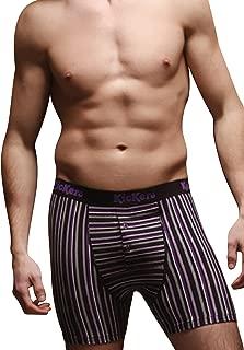 2 Pair Men's Kickers Cotton Jersey Boxer Shorts Small Purple striped 30-32