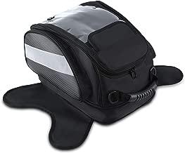 Magnético Depósito Bolsos del Tanque Hombre para Moto Impermeable Alforjas Asiento Viaje Caja de Deporte al Aire Libre Bolsa Portaequipaje Oxford Negro para Harley Davidson, etc ( L )