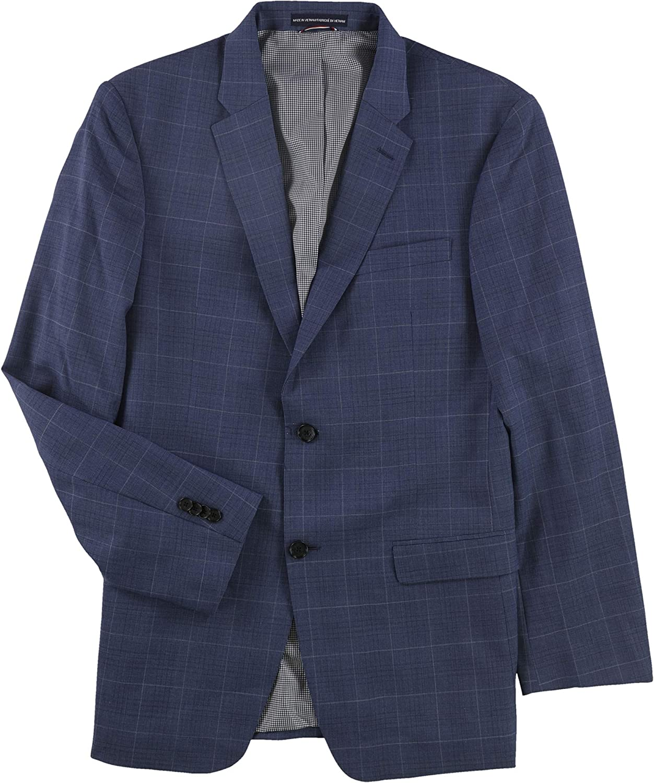 Tommy Hilfiger Mens Stretch Performance Two Button Blazer Jacket