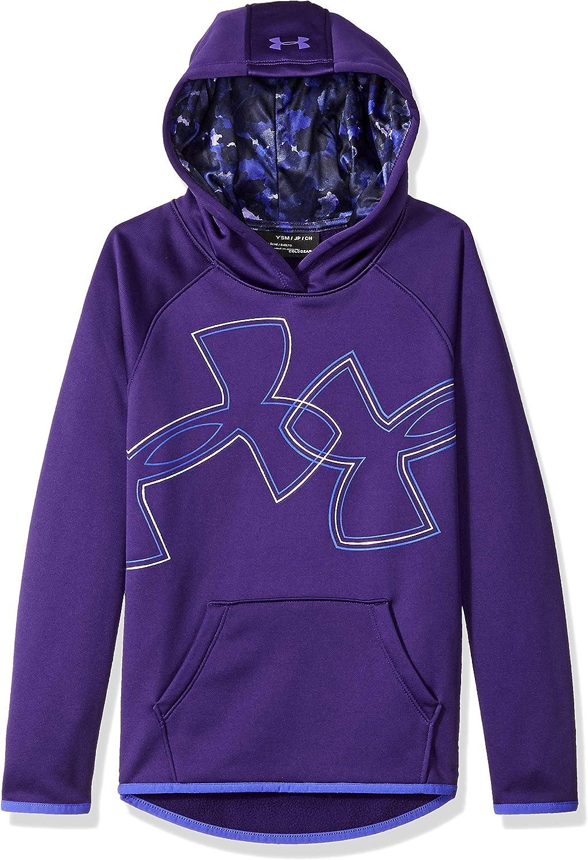 Under Armour Girls Armour Fleece Dl Logo Hoodie: Clothing